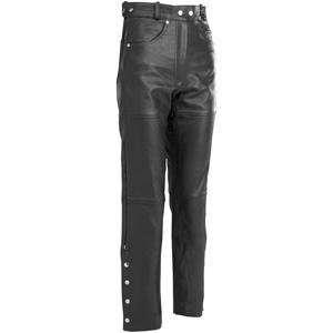 River Road Womens 5 Pocket Leather Pants   14/Black