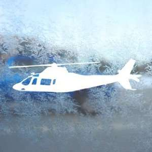 Agusta A109 Helicopter White Decal Laptop Window White