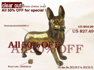AD051 SMALL SIZE FIGURE LIVELY DOG HEAD BRASS STATUE items in ARTSFENG