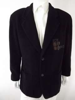 Mens blazer jacket wool blend black Iceberg XXL 52R 52 R