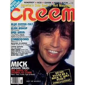 CREEM MAGAZINE   JANUARY 1978 ISSUE   MICK JAGGER COVER Books