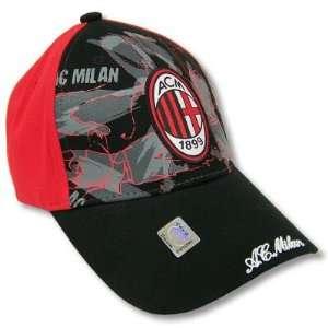 AC MILAN SOCCER OFFICIAL LOGO ADJUSTABLE CAP HAT  Sports