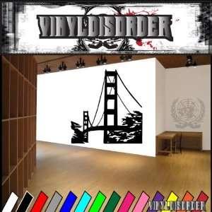 Golden Gate Bridge American Pride Vinyl Decal Sticker 006