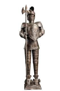 Foot SILVER Suit of Armor Medieval Knight