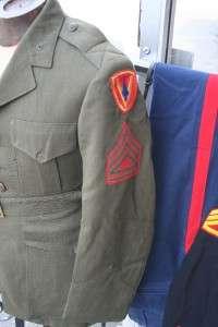 WW2 USMC Marine Corps Uniforms ..5th Marine DivisionIDD