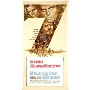 Poster B 20x40 Yul Brynner Steve McQueen Robert Vaughn: Home & Kitchen