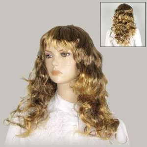 Cosplay Yellow Curly Hair Wig Hairpiece W Bangs Beauty