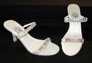 NEW White & Rhinestone Prom Formal Evening Shoes