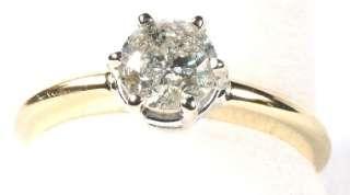 Stunning Solitaire .97 Carat Diamond Ring in 14K Yell