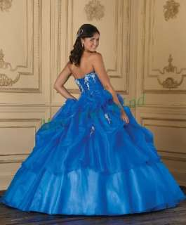 Beaded Quinceanera dresses Ball Gown Prom Party Dress Custom