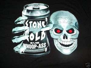 STONE COLD STEVE AUSTIN WHOOP A@S T SKULL SHIRT XL