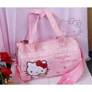 Cute Pink Medium Sized Hello Kitty Style Tote Bag/Gym Bag