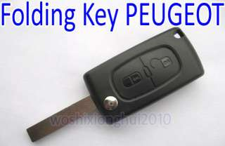 NEW Folding Key case Remote for PEUGEOT 207 307 308 407