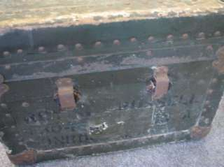 WW2 Foot Locker STORAGE TRUNK US Air Force CHAUMONT FRC
