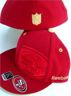 San Francisco 49ers NFL Hat Cap Reebok 7 3/4 Size Fitted Side Logo