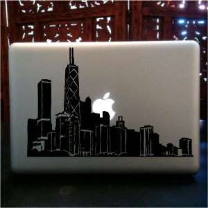 The Windy City Chicago Skyline macbook skin vinyl decal