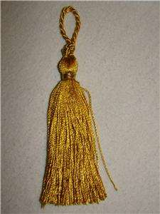 OF 12 GOLD TASSELS~CHRISTMAS ORNAMENTS~HOME DECOR~CRAFTS 5~NEW