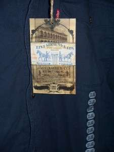 MENS LEVI STRAUSS DENIM JACKET or COAT with Fleece Lining 3XL blue