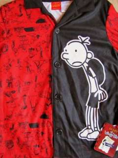 DIARY OF A WIMPY KID Book Flannel Button Up Coat Pajamas Pjs sz 10/12
