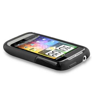 Gel Soft Skin Cover Case+LCD Guard Protector For HTC Wildfire S