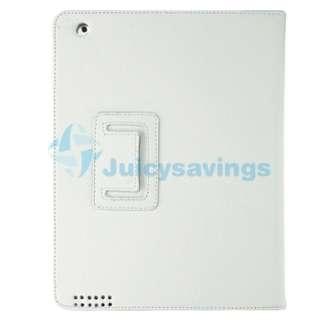 Blk Leather Case+Screen Gurad+Stylus+Headset For iPad 2 3G Wifi