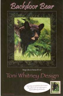 BACKDOOR BEAR APPLIQUE PATTERN   TONI WHITNEY