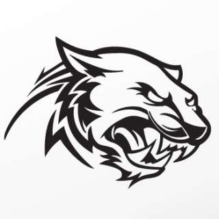 Vinyl Decal Sticker helmet Lion Tiger Wild Cat ZZ92X