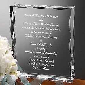Personalized Wedding Invitation Keepsake Gift