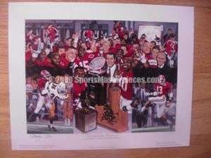 Alabama Crimson Tide Championship Memories Print Hess