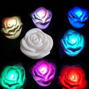 LED Rose Color changed Lamp Night Light Valentines Day