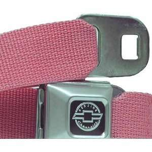 Chevy Logo Seatbelt Buckle Belt W/Pink Webbing Bdchsbbp: