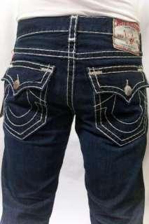 RELIGION Mens Jeans Billy White Super T Stitch Dark Blue Retribution