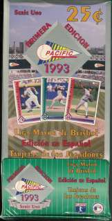 1993 PACIFIC SERIES 1 SPANISH BASEBALL HOBBY BOX FACTORY SEALED BOX