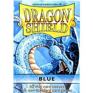 Dragon Shield Mini Card Sleeves Blue 50 Count Toys