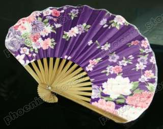 Silk Hand Fan Little Vintage Pattern Folding Fans