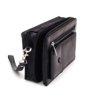 New Leather Clutch Bag Travel Case Mens Wallet Organizer Purse by