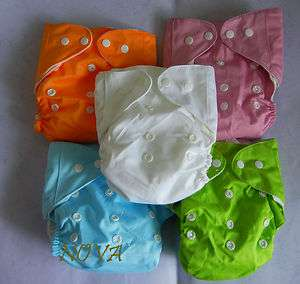 One Size baby ReUsable cloth diaper nappy AIO washable new