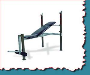 ADJUSTABLE INCLINE BENCH AND PRESS HOME GYM W/ LEG LIFT BAR PLATE