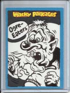 Wacky Packages Ogre Eaters 2011 Topps Sketch Simko 1/1