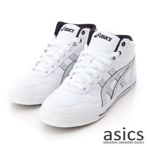 Brand New ASICS AARON MT CV Shoes White/Light Grey #19