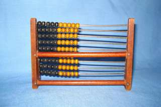 Antique Primitive Wooden Hand Made Abacus   Calculator