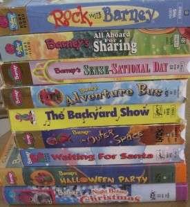 HUGE Lot 18 VHS VIDEOS BARNEY & FRIENDS DINOSAUR SANTA ROCK ZOO
