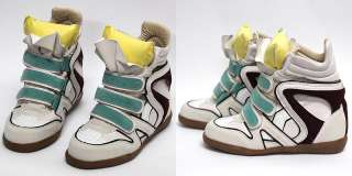 Womens Pastel High Top Strap Sneakers Shoes US 5~8 / Ladies Velcro