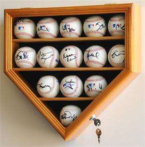 14 MLB Baseball Home Plate Display Case Cabinet Lock UV