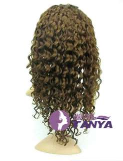 front lace wig indian remy human hair 16 4# deep wave