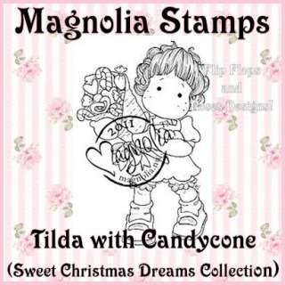 MAGNOLIA TILDA WITH CANDYCONE RUBBER STAMP SWEET CHRISTMAS DREAMS MS