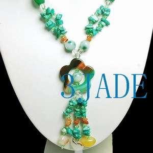 26 Jadeite Jade, Agate, Crystal Beads Necklace