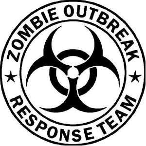 Zombie Outbreak Response Team Vinyl Wall Art Decal