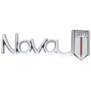 66 CHEVY II/Nova GLOVE BOX DOOR EMBLEM, Nova CHEVY II