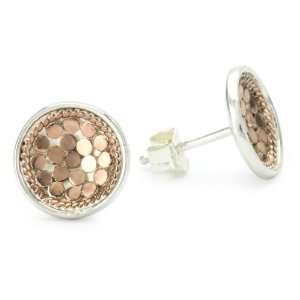 Anna Beck Designs Gili 18k Rose Gold Plated Dish Post Earrings